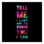 Le mostraré que puedo arco iris poster