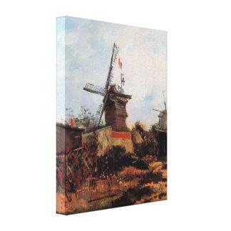 Le Moulin de Blute-Fin by Vincent van Gogh Stretched Canvas Print