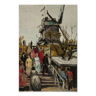 Le Moulin de Blute-Fin Van Gogh Fine Art Poster