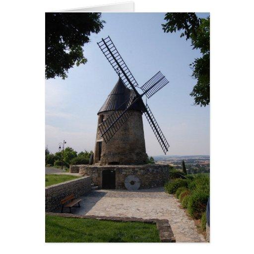 Le Moulin de Cugarel, Castelnaudary Stationery Note Card