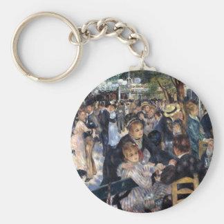 Le Moulin de la Galette by Pierre Auguste Renoir Basic Round Button Keychain