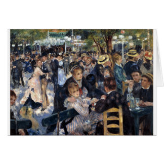 Le Moulin de la Galette by Pierre Auguste Renoir Card