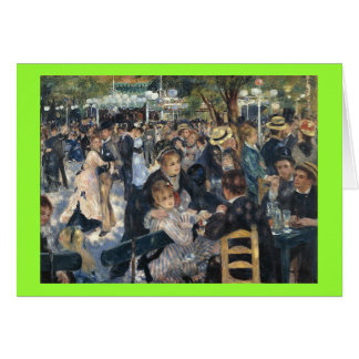 Le Moulin de la Galette by Pierre Auguste Renoir Card