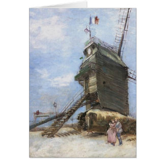 Le Moulin de la Galette by Vincent van Gogh Card