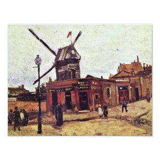 Le Moulin De La Galette By Vincent Van Gogh Personalized Invite