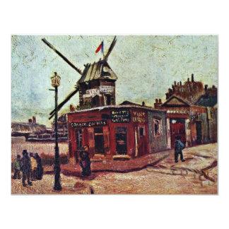 Le Moulin De La Galette By Vincent Van Gogh Invitation