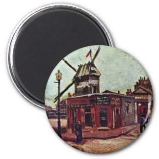 Le Moulin De La Galette By Vincent Van Gogh Magnets