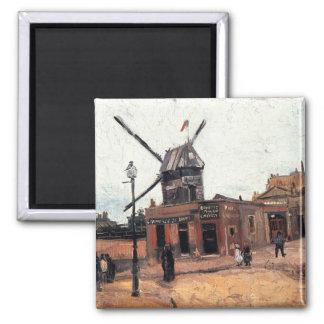 Le Moulin de la Galette by Vincent van Gogh Magnet