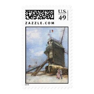 Le Moulin de la Galette by Vincent van Gogh Postage Stamps