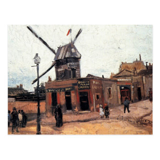 Le Moulin de la Galette by Vincent van Gogh Postcard