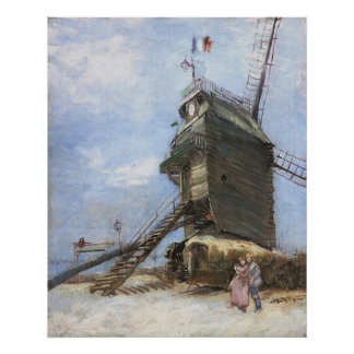 Le Moulin de la Galette by Vincent van Gogh Poster