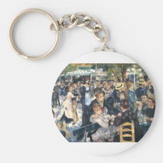 Le Moulin de la Galette Montmarte Paris Basic Round Button Keychain