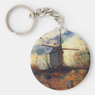 Le Moulin de la Galette Van Gogh Basic Round Button Keychain