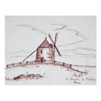 Le Moulin de Moidrey Windmill   Pontorson Postcard