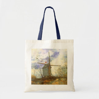 Le Moulin Galette by Vincent van Gogh, Windmill Budget Tote Bag