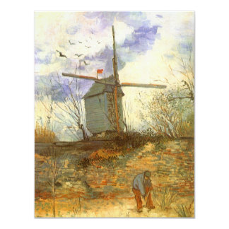 Le Moulin Galette by Vincent van Gogh, Windmill Personalized Invitations