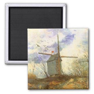 Le Moulin Galette by Vincent van Gogh, Windmill Magnet