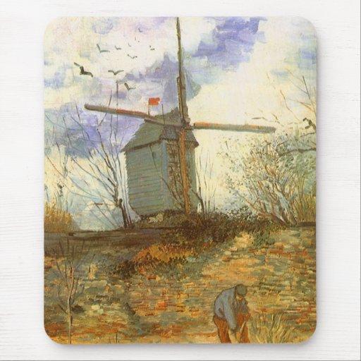 Le Moulin Galette by Vincent van Gogh, Windmill Mouse Pad