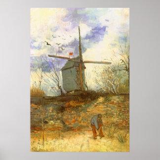 Le Moulin Galette by Vincent van Gogh, Windmills Poster