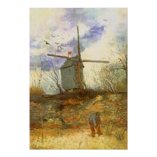 Le Moulin Galette by Vincent van Gogh, Windmills Poster