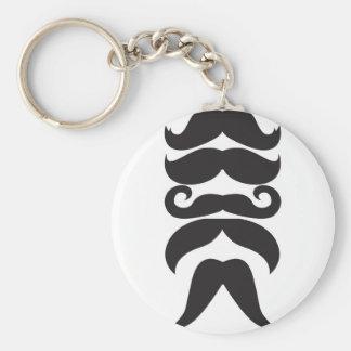 Le Moustache Llavero Redondo Tipo Pin