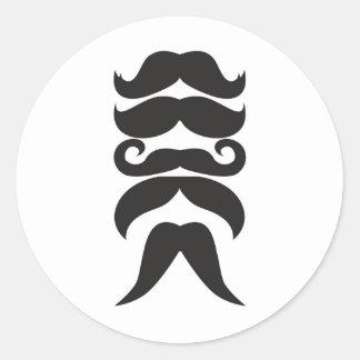 Le Moustache Pegatina Redonda