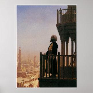 Le Muezzin, la llamada al rezo, 1865 Póster