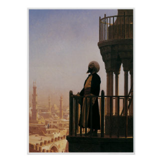 Le Muezzin, The Call to Prayer, 1865 Poster