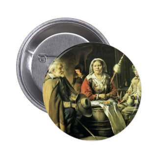 Le Nain brothers- Country interior Button