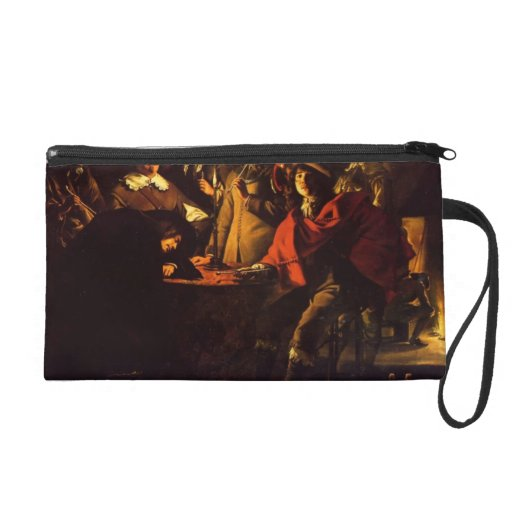 Le Nain brothers- Smokers in an interior Wristlet Purse