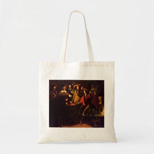 Le Nain brothers- Smokers in an interior Tote Bag