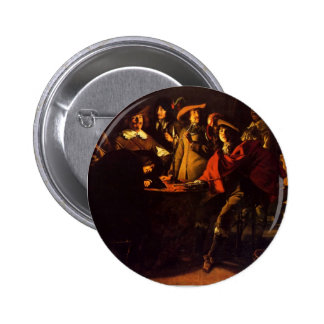 Le Nain brothers- Smokers in an interior Pinback Button