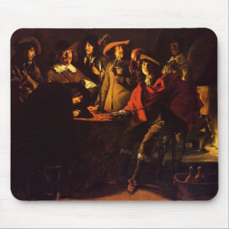 Le Nain brothers- Smokers in an interior Mouse Pad