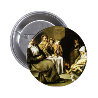 Le Nain brothers- The Family Meal Pinback Button