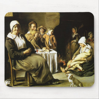 Le Nain brothers- The Family Meal Mouse Pad