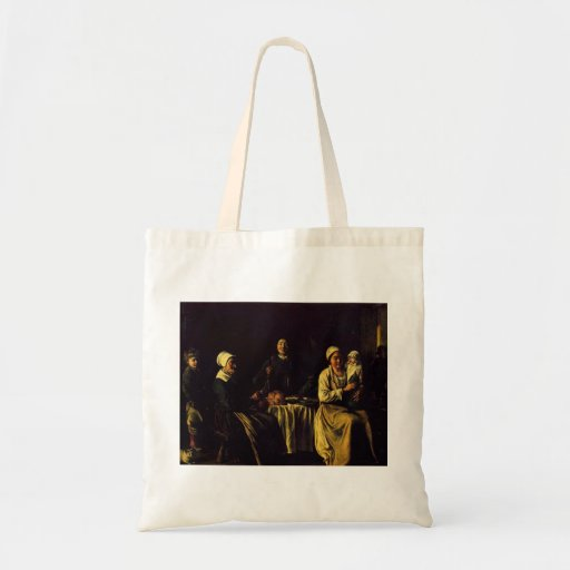 Le Nain brothers- The happy family Canvas Bags