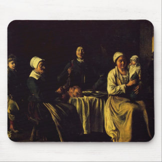 Le Nain brothers- The happy family Mouse Pad