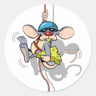 Le no me ven rata que sube pegatina redonda