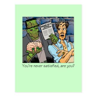 Le nunca satisfacen tarjetas postales