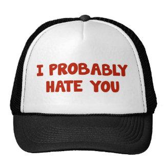 Le odio probablemente gorra