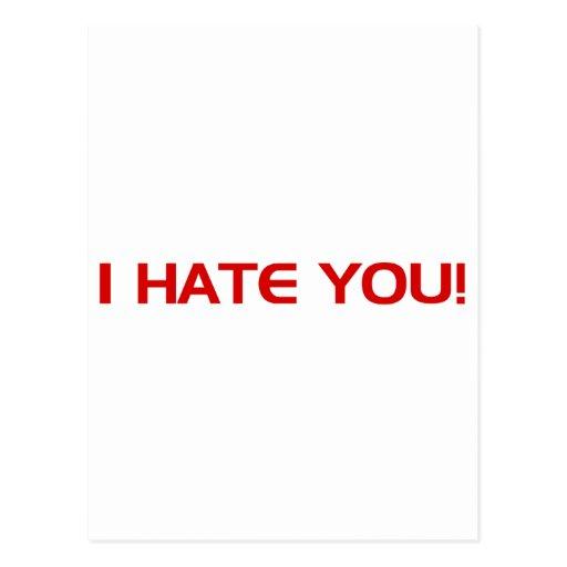 ¡Le odio!  - Punk alternativo de la roca del Tarjeta Postal