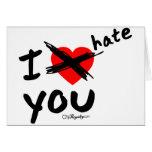 Le odio tarjeta de felicitación