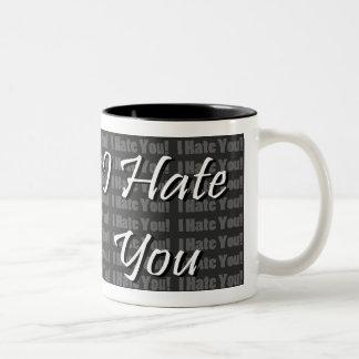 Le odio taza de dos tonos