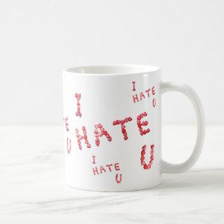 Le odio taza de la taza de café del corazón del