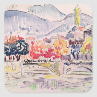 Le Paillon, Nice, 1921 Square Sticker