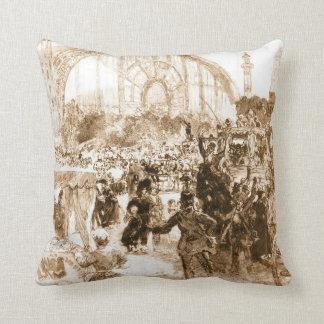 Le Palais de Machines 1889 Throw Pillows