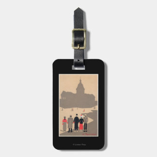 Le Pantheon Art Deco SceneParis, France Luggage Tag