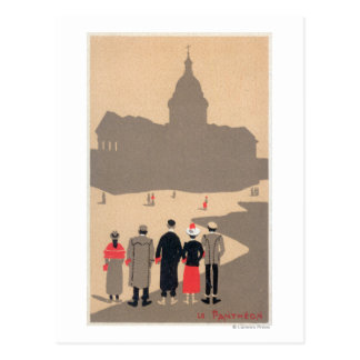 Le Pantheon Art Deco SceneParis, France Postcard