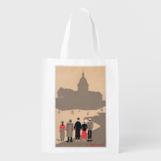 Le Pantheon Art Deco SceneParis, France Reusable Grocery Bag