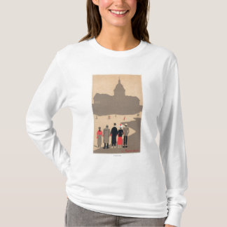 Le Pantheon Art Deco SceneParis, France T-Shirt